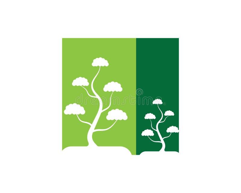 Αφηρημένη διανυσματική απεικόνιση σχεδίου λογότυπων δέντρων διανυσματική απεικόνιση