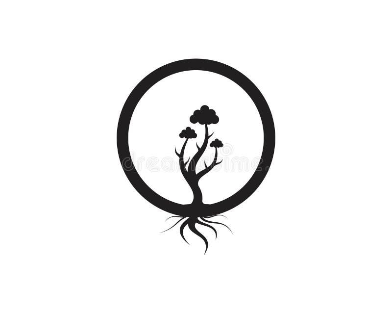 Αφηρημένη διανυσματική απεικόνιση σχεδίου λογότυπων δέντρων απεικόνιση αποθεμάτων
