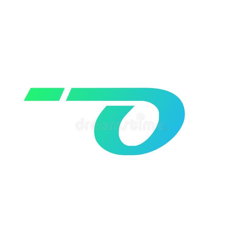 αφηρημένη διανυσματική απεικόνιση σχεδίου λογότυπων tecnology γραμμάτων ο διανυσματική απεικόνιση