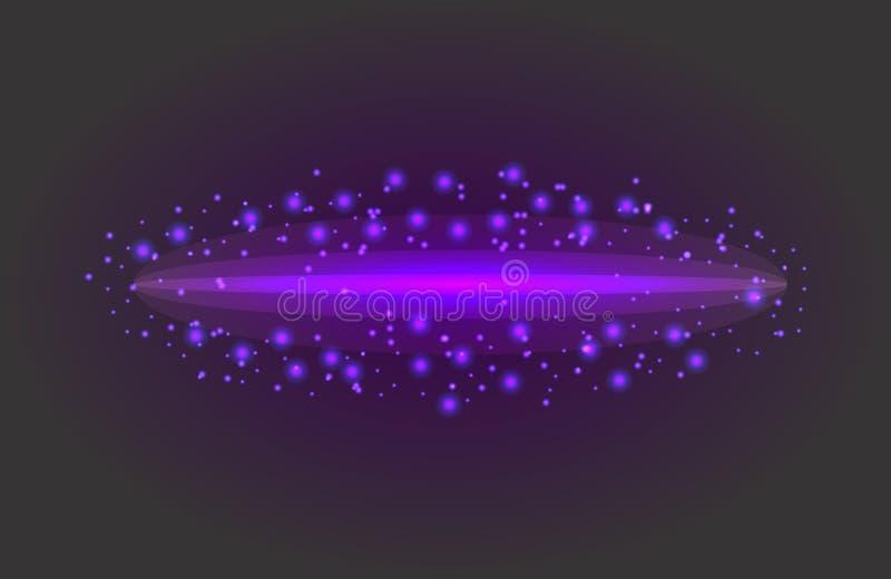 Αφηρημένη διανυσματική ελαφριά επίδραση αστεριών πυράκτωσης μαγική από τη θαμπάδα νέου κυρτού Φωτεινός, μαρκάρισμα ελεύθερη απεικόνιση δικαιώματος