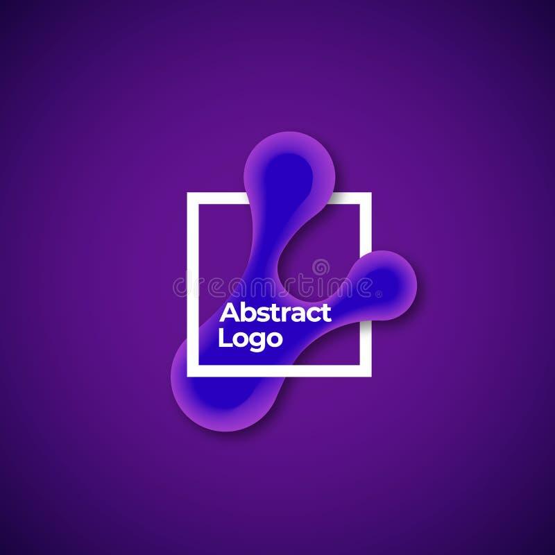 Αφηρημένη διανυσματική μορφή κλίσης σε ένα τετραγωνικό πρότυπο πλαισίων, σημαδιών ή λογότυπων Αντικείμενα γεωμετρίας με τη ζωηρόχ διανυσματική απεικόνιση