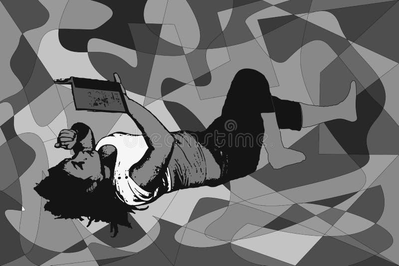 Αφηρημένη εικόνα ενός σχεδιαγράμματος μιας θηλυκής διανυσματικής απεικόνισης σωμάτων ελεύθερη απεικόνιση δικαιώματος