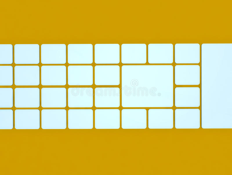 αφηρημένη εικόνα κύβων ανασ&k διανυσματική απεικόνιση