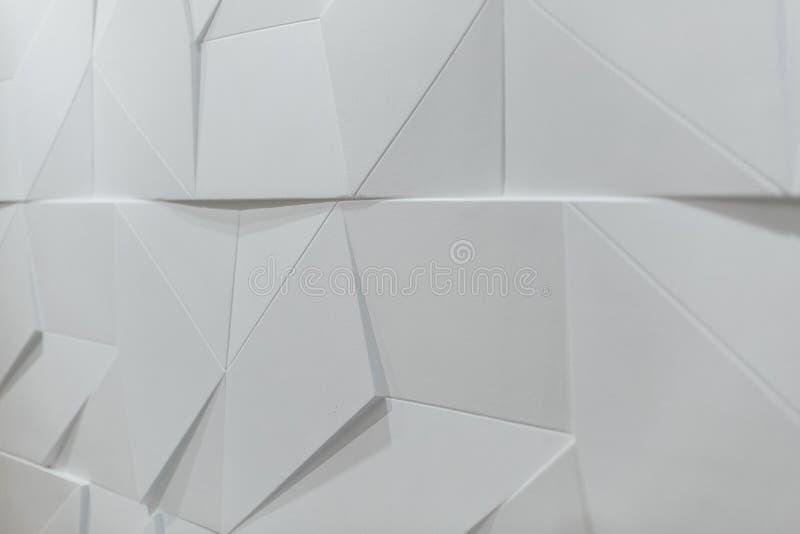 Αφηρημένη εικόνα της σύστασης τρισδιάστατη για το σύγχρονο υπόβαθρο τοίχων στον άσπρο τόνο στοκ φωτογραφίες