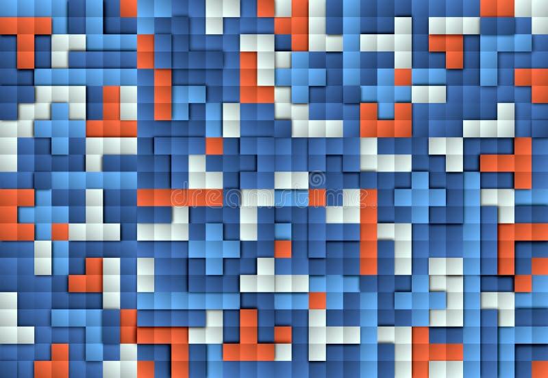 Αφηρημένη εικόνα του υποβάθρου φραγμών διανυσματική απεικόνιση