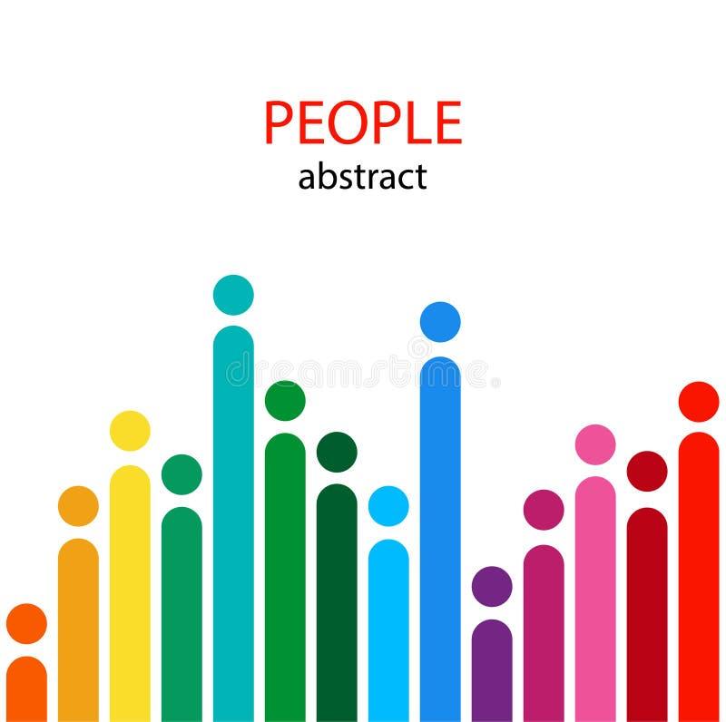 Αφηρημένη εικόνα των ανθρώπων Ελαφριά κάλυψη με την κενή θέση για το κείμενο ελεύθερη απεικόνιση δικαιώματος