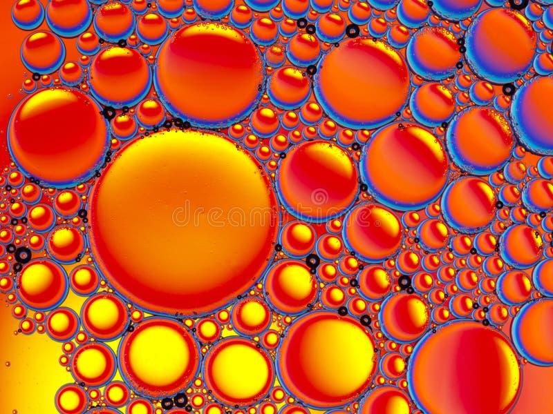 Αφηρημένη εικόνα των σταγονίδιων πετρελαίου στοκ εικόνες