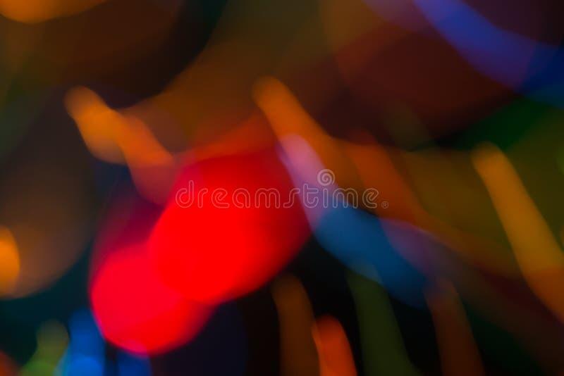 Αφηρημένη εικόνα των φωτεινών χρωματισμένων δυναμικών φω'των στοκ φωτογραφίες
