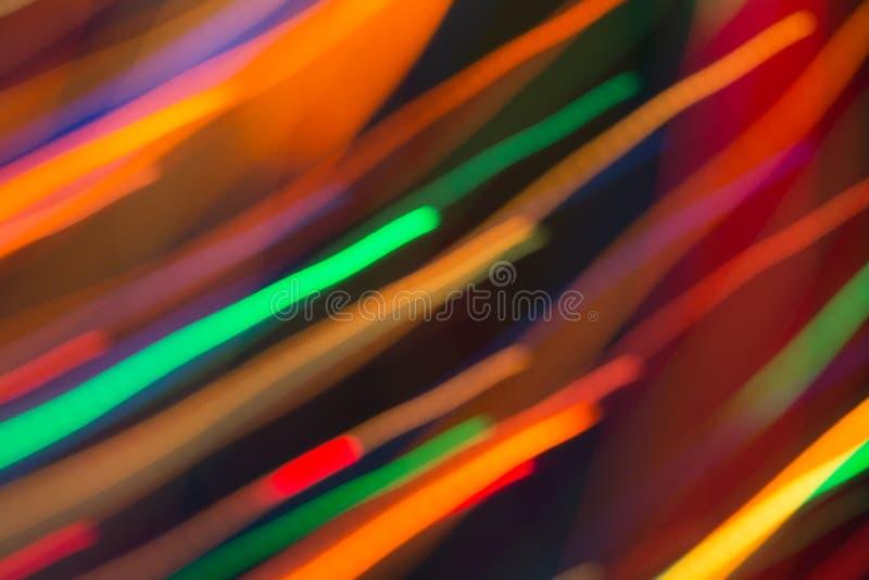 Αφηρημένη εικόνα των φωτεινών χρωματισμένων δυναμικών φω'των στοκ φωτογραφία
