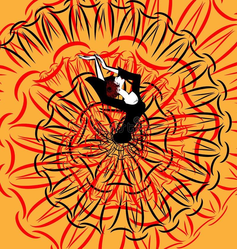 Αφηρημένη εικόνα flamenco ελεύθερη απεικόνιση δικαιώματος