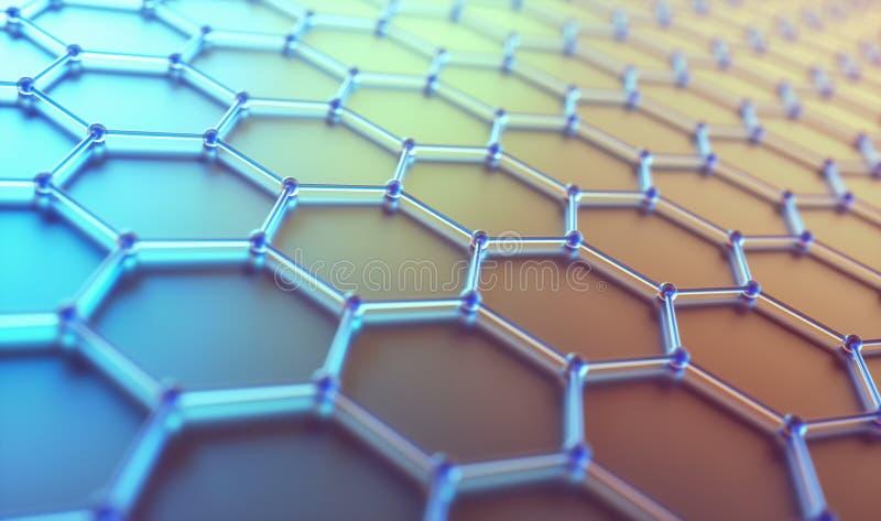 Αφηρημένη εξαγωνική ατομική τεχνολογία επιστήμης σύνδεσης στοκ φωτογραφίες με δικαίωμα ελεύθερης χρήσης