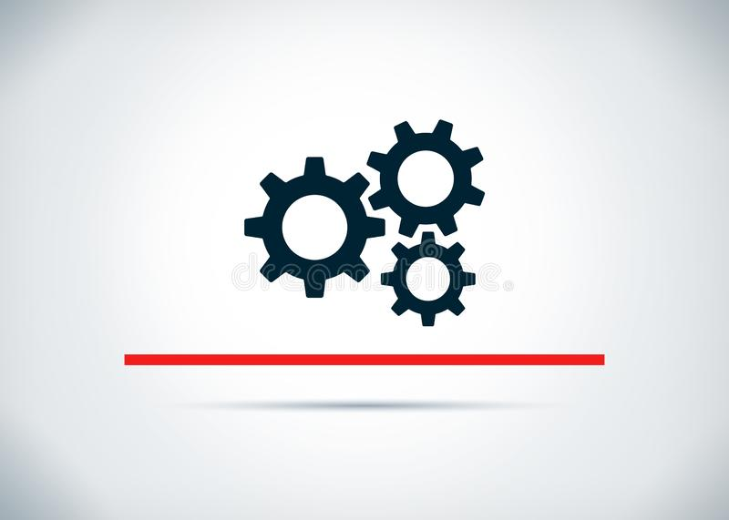 Αφηρημένη επίπεδη απεικόνιση σχεδίου υποβάθρου εικονιδίων εργαλείων τοποθετήσεων απεικόνιση αποθεμάτων