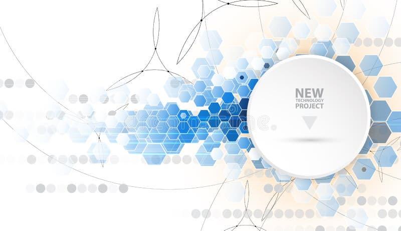 Αφηρημένη επιχειρησιακή λύση τεχνολογίας υπολογιστών Διαδικτύου απεικόνιση αποθεμάτων