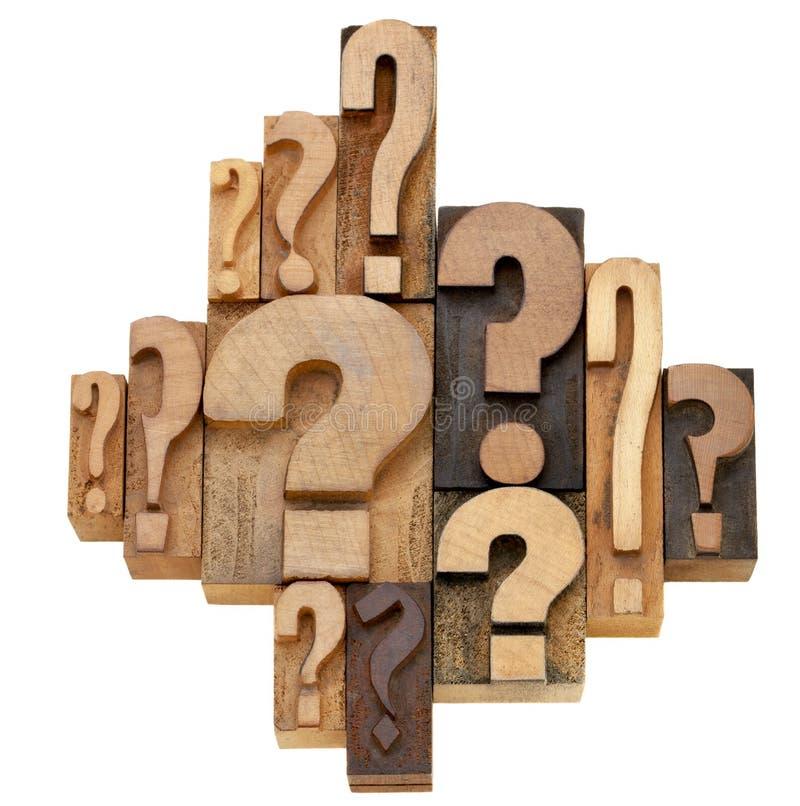 αφηρημένη ερώτηση σημαδιών στοκ φωτογραφία
