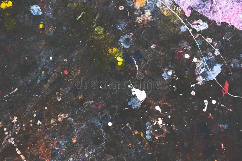 Αφηρημένη ζωγραφική, ζωηρόχρωμος πίνακας σύστασης Grunge στοκ φωτογραφίες με δικαίωμα ελεύθερης χρήσης