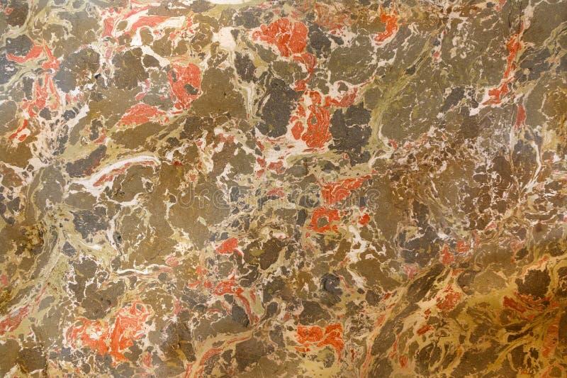 αφηρημένη ζωγραφική Μαρμάρινη ζωγραφική επίδρασης Μικτά κόκκινα και πράσινα ελαιοχρώματα στοκ φωτογραφία
