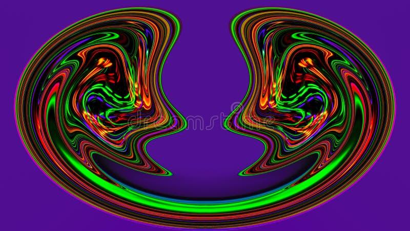 Αφηρημένη ζωγραφική - psychedelic εικόνες ελεύθερη απεικόνιση δικαιώματος