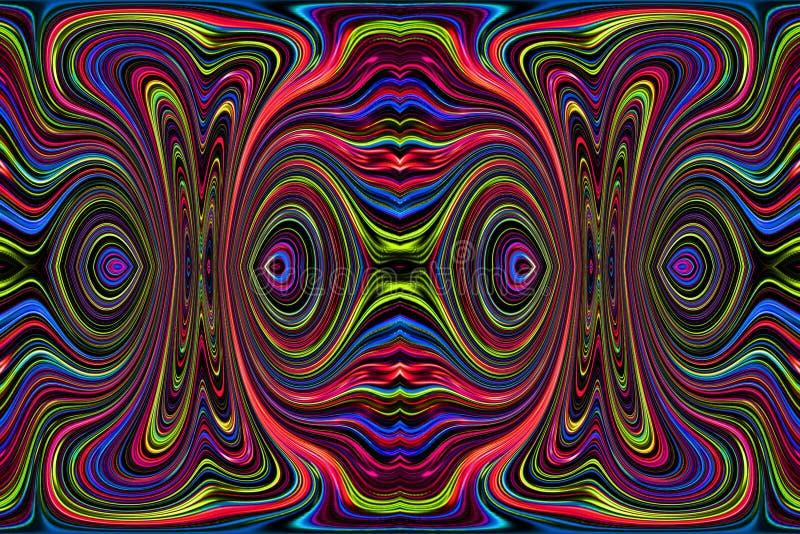 Αφηρημένη ζωγραφική - psychedelic εικόνες απεικόνιση αποθεμάτων