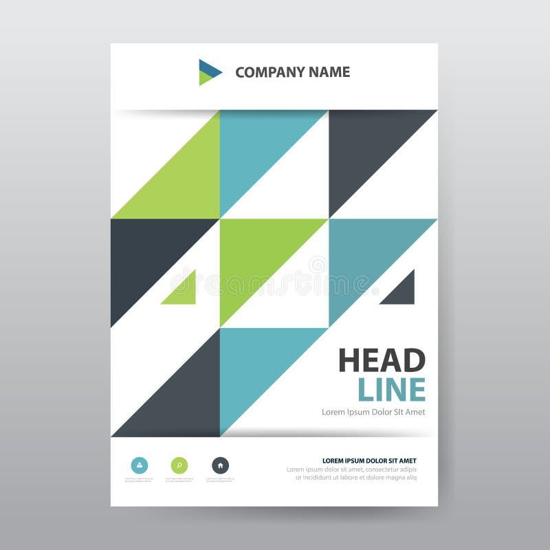 Αφηρημένη ζωηρόχρωμη αφίσα φυλλάδιων τριγώνων, πρότυπο ετήσια εκθέσεων ιπτάμενων a4 στο μέγεθος, απεικόνιση αποθεμάτων