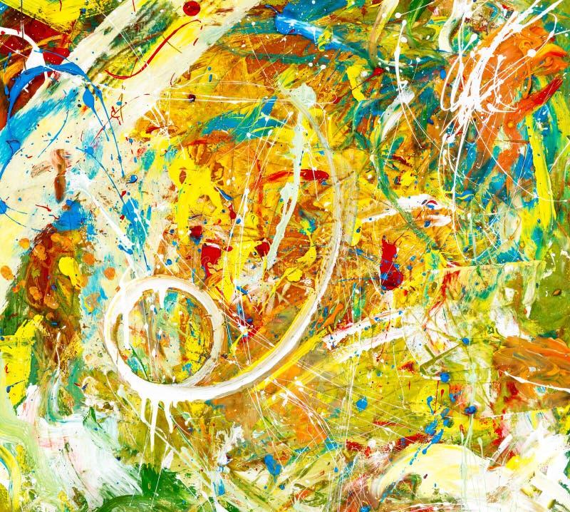 αφηρημένη ζωηρόχρωμη ζωγραφική στοκ φωτογραφίες με δικαίωμα ελεύθερης χρήσης