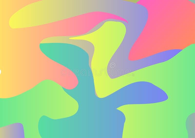 αφηρημένη ζωηρόχρωμη τοποθετημένη σε κάψα κρητιδογραφία Post$l*script ανασκόπησης 10 Δυναμικό διανυσματικό illus επίδρασης διανυσματική απεικόνιση