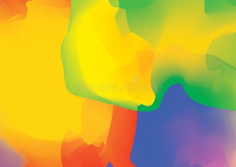αφηρημένη ζωηρόχρωμη τοποθετημένη σε κάψα κρητιδογραφία Post$l*script ανασκόπησης 10 Δυναμικό διανυσματικό illus επίδρασης ελεύθερη απεικόνιση δικαιώματος