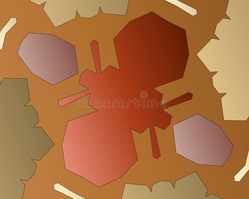 αφηρημένη ζωηρόχρωμη τοποθετημένη σε κάψα κρητιδογραφία Post$l*script ανασκόπησης 10 Αφηρημένη διακόσμηση ύφους μορφής χρώματος σ απεικόνιση αποθεμάτων