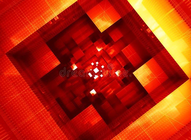 Αφηρημένη ηλεκτρονική μορφή αρχιτεκτονικής συστημάτων διανυσματική απεικόνιση