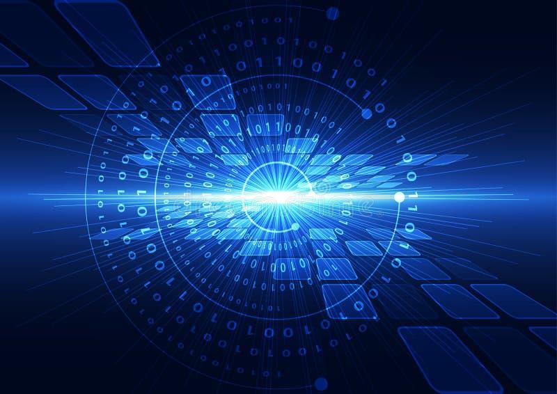 Αφηρημένη διανυσματική γεια απεικόνιση υποβάθρου τεχνολογίας Διαδικτύου ταχύτητας απεικόνιση αποθεμάτων