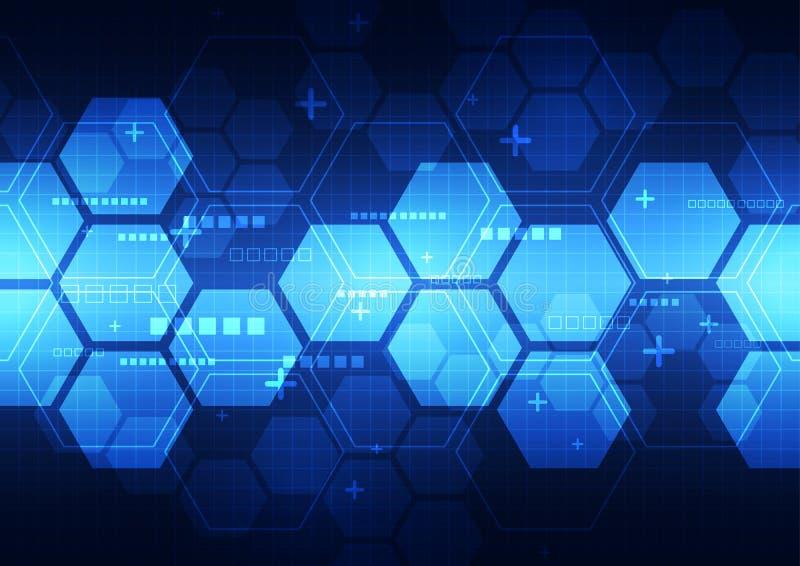 Αφηρημένη διανυσματική μελλοντική απεικόνιση υποβάθρου έννοιας τεχνολογίας