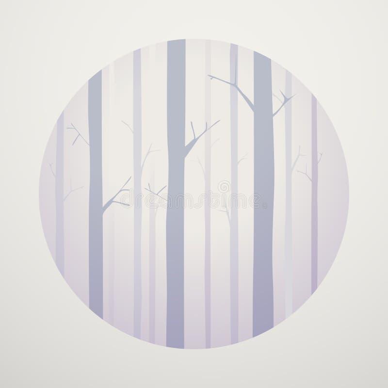 Αφηρημένη διανυσματική ξύλινη γραφική έννοια αγριόπευκων διανυσματική απεικόνιση