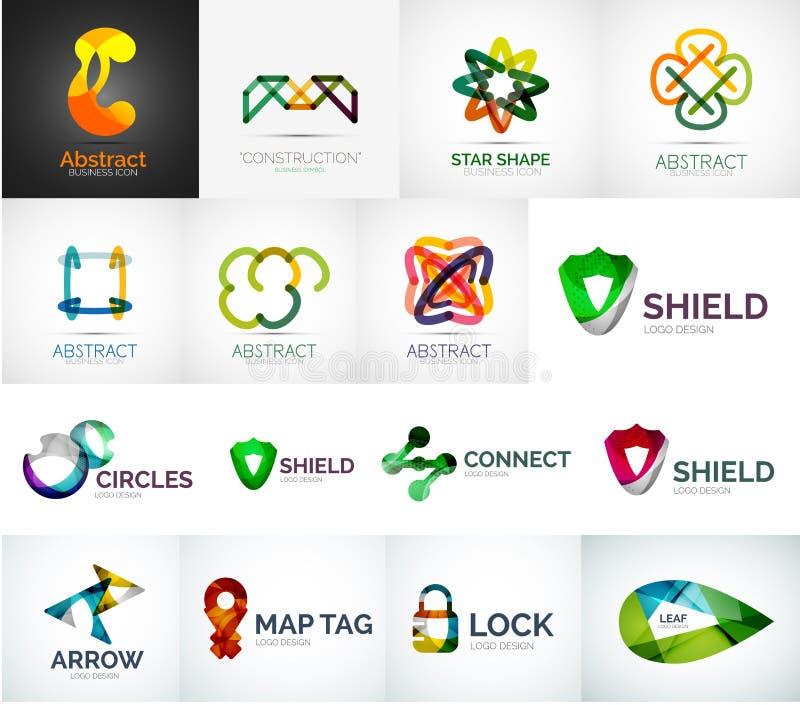 Αφηρημένη διανυσματική συλλογή λογότυπων επιχείρησης απεικόνιση αποθεμάτων