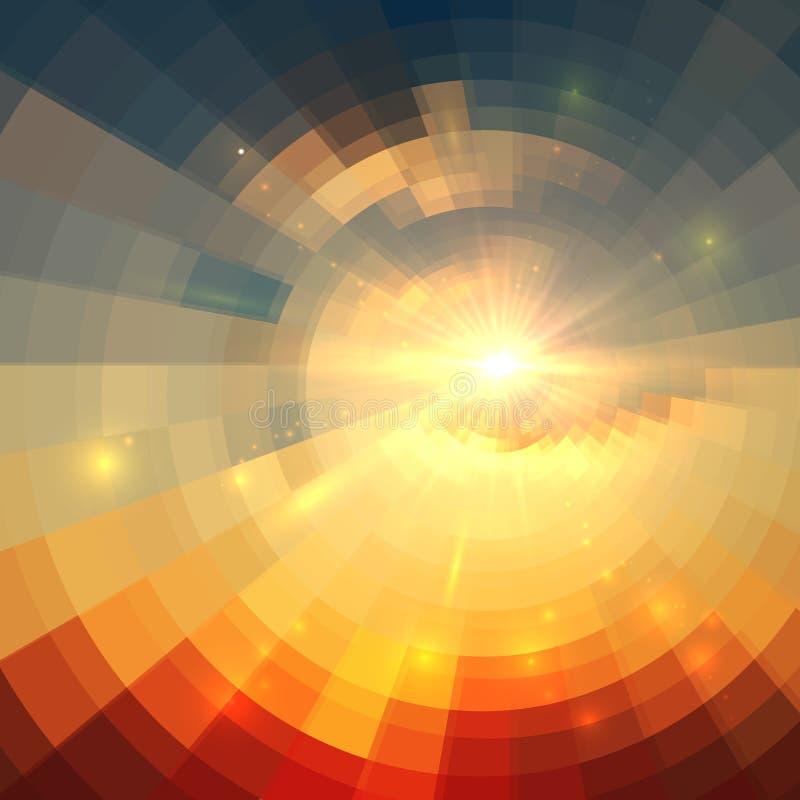 Αφηρημένη διανυσματική τεχνολογία κύκλων ανατολής διανυσματική απεικόνιση