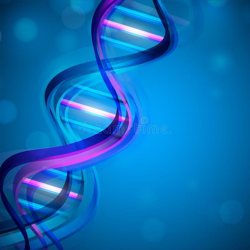 Αφηρημένη ιατρική ανασκόπηση με το ζωηρόχρωμο DNA. ελεύθερη απεικόνιση δικαιώματος