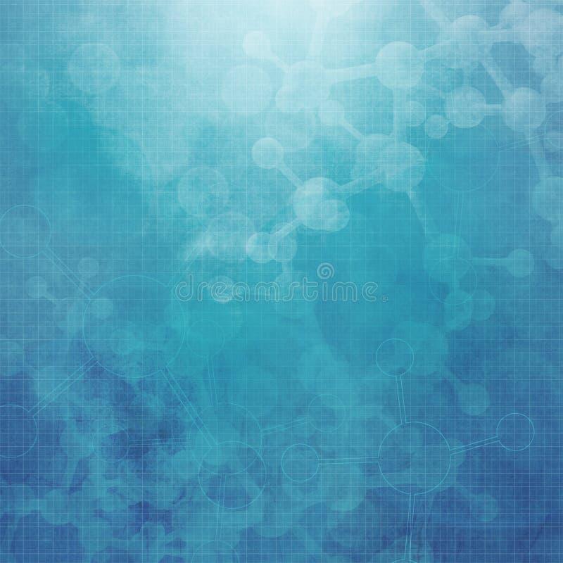 Αφηρημένη ιατρική ανασκόπηση μορίων ελεύθερη απεικόνιση δικαιώματος