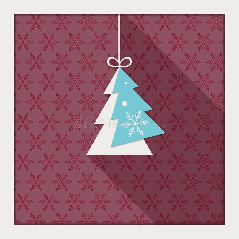Αφηρημένη κάρτα με το ζωηρόχρωμο χριστουγεννιάτικο δέντρο απεικόνιση αποθεμάτων