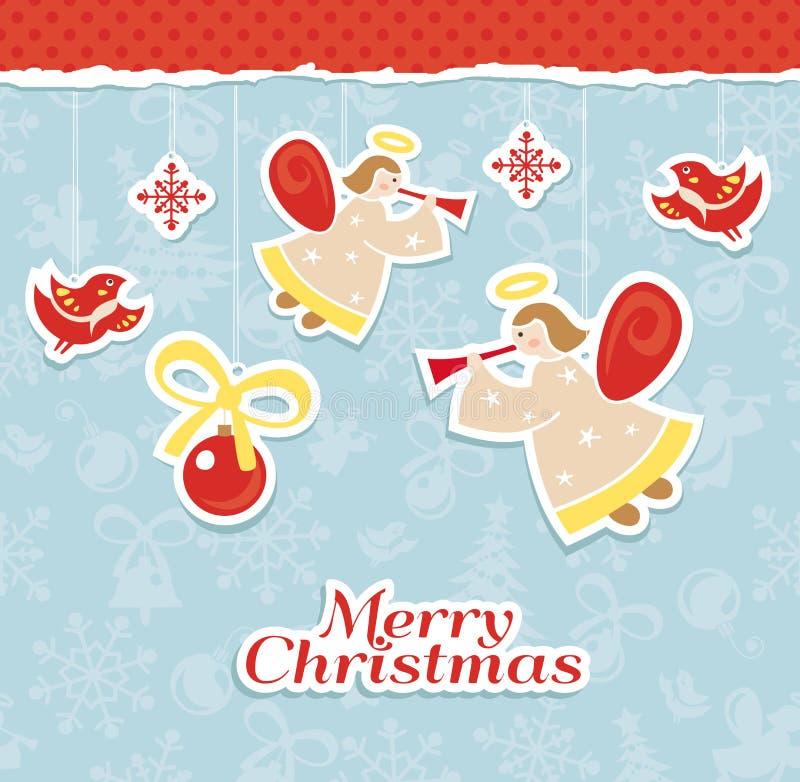 Αφηρημένη κάρτα Χριστουγέννων απεικόνιση αποθεμάτων