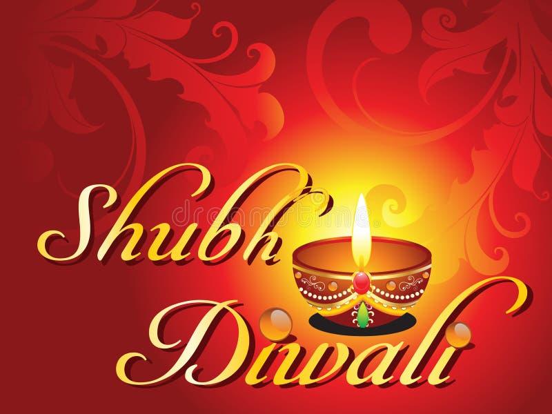 Αφηρημένη κάρτα diwali shubh απεικόνιση αποθεμάτων