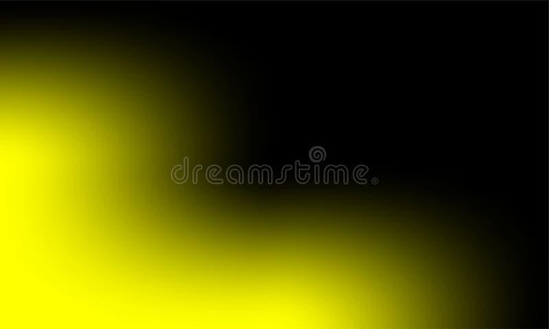 Αφηρημένη κίτρινη ομίχλη υδρονέφωσης καπνού σε ένα μαύρο υπόβαθρο Σύσταση, που απομονώνεται διανυσματική απεικόνιση