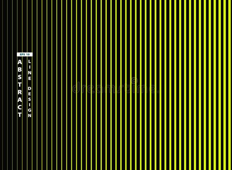 Αφηρημένη καθιερώνουσα τη μόδα ζωηρή Πράσινη Γραμμή στο μαύρο υπόβαθρο r απεικόνιση αποθεμάτων