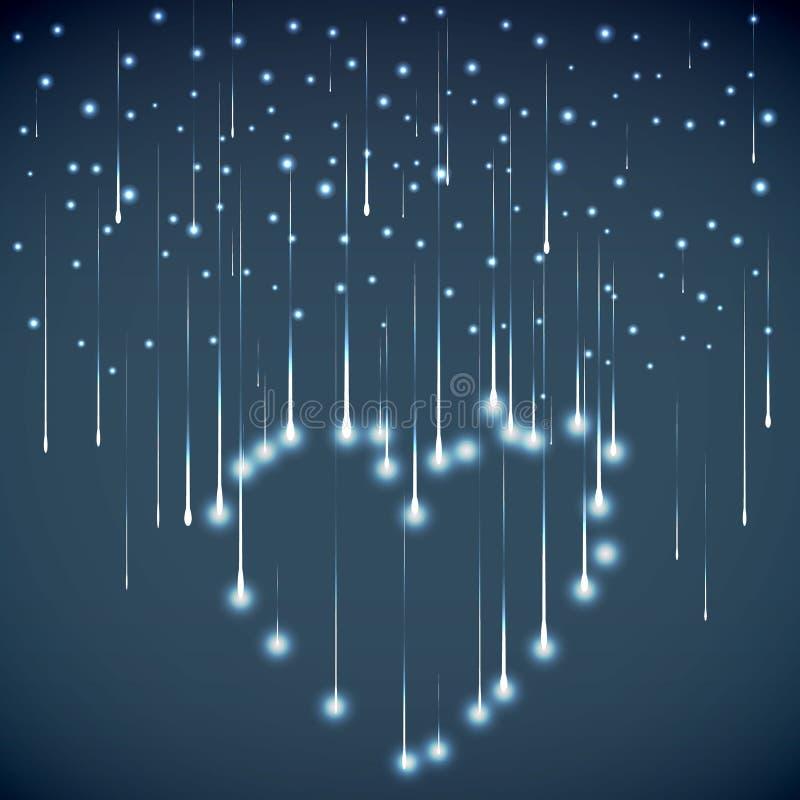 Αφηρημένη καρδιά γραμμών επίσης corel σύρετε το διάνυσμα απεικόνισης στοκ εικόνες