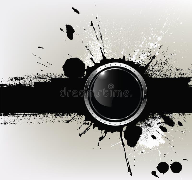 Αφηρημένη κατασκευασμένη ανασκόπηση με το α με το στρογγυλό glo ελεύθερη απεικόνιση δικαιώματος