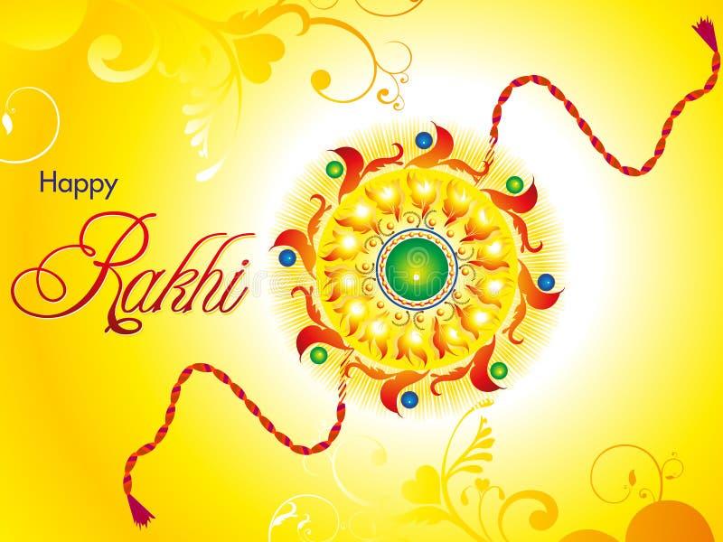 Αφηρημένη καλλιτεχνική bandhan ταπετσαρία raksha διανυσματική απεικόνιση