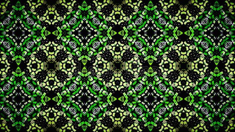 Αφηρημένη κιτρινοπράσινη άσπρη μαύρη ταπετσαρία χρώματος στοκ εικόνες με δικαίωμα ελεύθερης χρήσης
