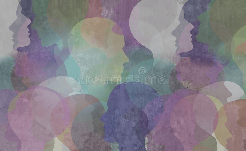 Αφηρημένη κοινωνία ποικιλομορφίας διανυσματική απεικόνιση