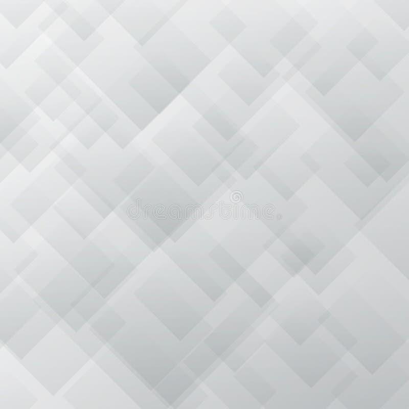 Αφηρημένη κομψή άσπρη και γκρίζα σύσταση επικαλύψεων τετραγώνων σχεδίων ελεύθερη απεικόνιση δικαιώματος