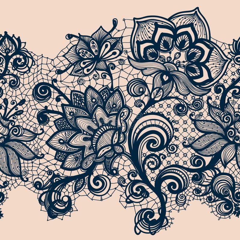 Αφηρημένη κορδέλλα δαντελλών διανυσματική απεικόνιση