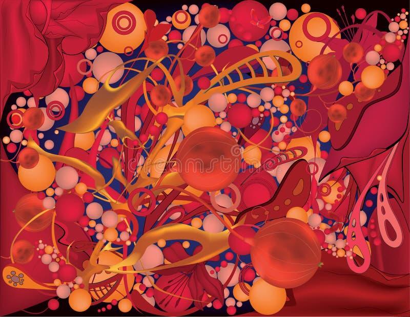 Αφηρημένη κόκκινη ανασκόπηση διανυσματική απεικόνιση