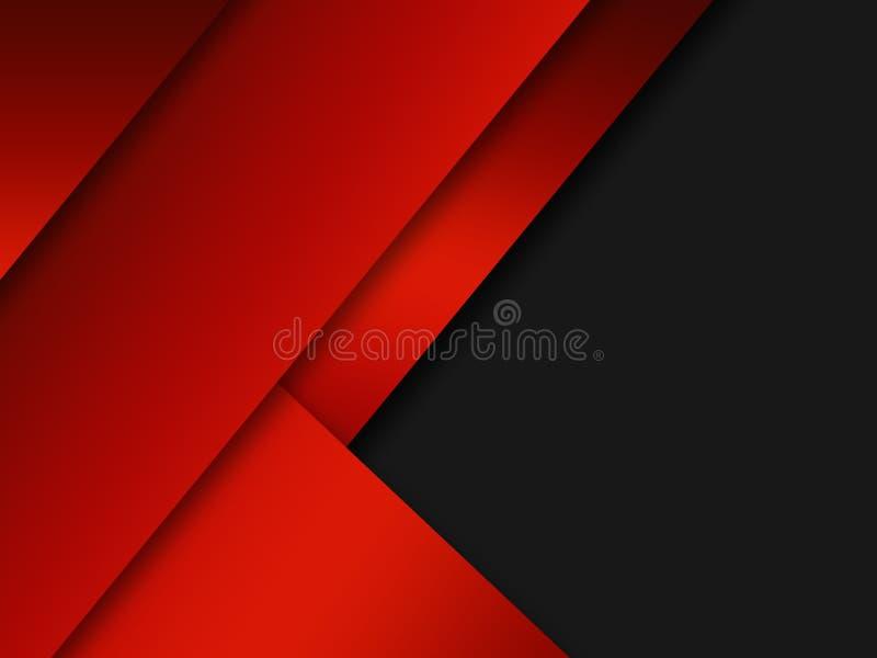 Αφηρημένη κόκκινη μεταλλική επικάλυψη σε γκρίζο λευκό κενό σχέδιο μοντέρνου πολυτελές φουτουριστικό φόντο ελεύθερη απεικόνιση δικαιώματος
