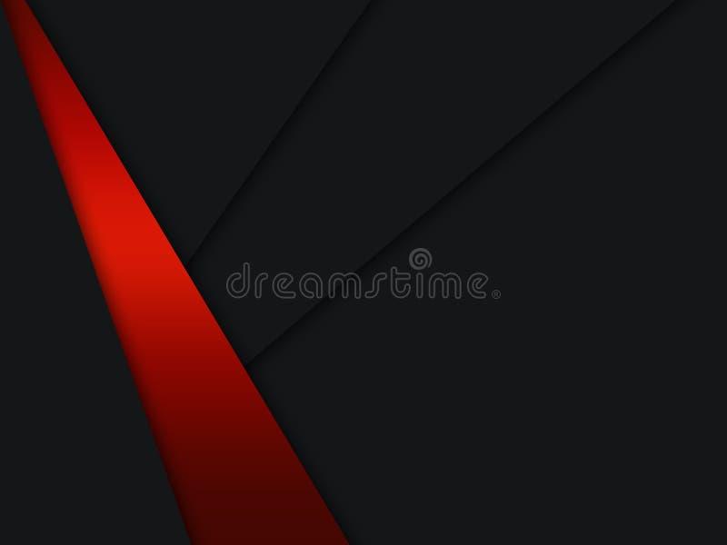 Αφηρημένη κόκκινη μεταλλική επικάλυψη σε γκρίζο λευκό κενό σχέδιο μοντέρνου πολυτελές φουτουριστικό φόντο απεικόνιση αποθεμάτων